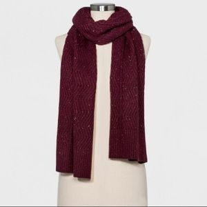 NEW Target Ribbed Knit Scarf Universal Thread